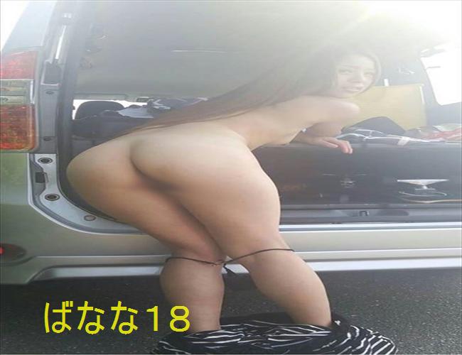 人妻さんが車の中で露出プレイに挑戦