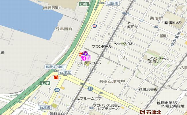 堺市ラブホ ホテルオリーブの地図